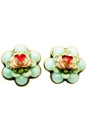 Michal Negrin Vintage Rose Stud Earrings