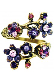 Michal Negrin Purple Swirl Cherry Blossom Wrap Ring