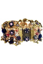 Michal Negrin Purple Crochet Bracelet