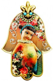 Michal Negrin Rainbow Girl Large Hamsa