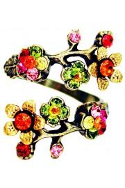 Michal Negrin Multicolor Orange Cherry Blossom Wrap Ring