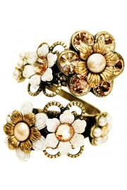 Michal Negrin Pearl Gold Spiral Ring