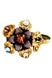 Michal Negrin Bronze Gold Flower Ring