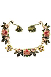 Michal Negrin Pink Roses Necklace