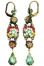 Michal Negrin Multicolor Mint Green Milano Earrings