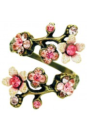 Michal Negrin Pink Cherry Blossom Wrap Ring