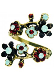 Michal Negrin Red Sea Green Cherry Blossom Wrap Ring