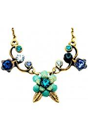 Michal Negrin Blue Turquoise Aqua Flower Necklace