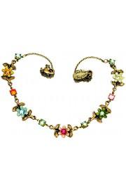 Michal Negrin Multicolor Flowers Necklace