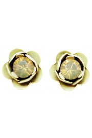Michal Negrin Misty Cream Rose Stud Earrings
