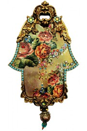 Michal Negrin Victorian Roses Ornate Wall Hamsa