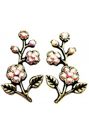 Michal Negrin Aurora Borealis Cherry Blossom Stud Earrings