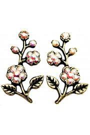Michal Negrin Aurora Borealis Cherry Blossom Stud Earrings
