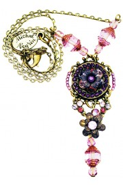 Michal Negrin Purple Pendant Necklace