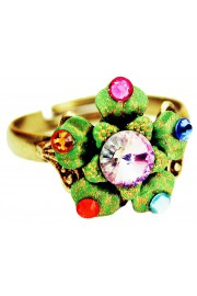 Michal Negrin Multicolor Green Flower Ring