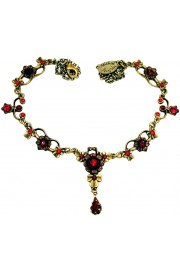 Michal Negrin Red Ornate Necklace