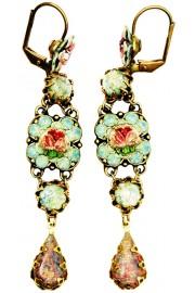 Michal Negrin Vintage Rose Milano Earrings