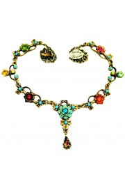 Michal Negrin Multicolor Turquoise Ornate Necklace
