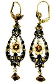 Michal Negrin Black Bronze Spade Earrings
