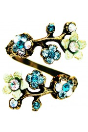 Michal Negrin Turquoise Aqua Green Cherry Blossom Wrap Ring