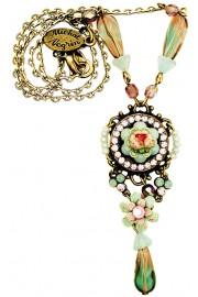 Michal Negrin Vintage Rose Pendant Necklace