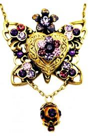 Michal Negrin Purple Butterfly Locket Necklace