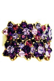Michal Negrin Purple Double Row Ring