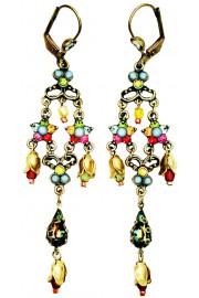 Michal Negrin Multicolor Stars Drop Earrings