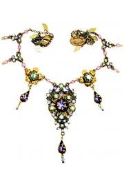 Michal Negrin Purple Green Elinor Necklace
