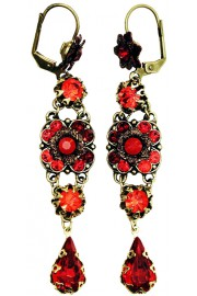 Michal Negrin Red Milano Earrings