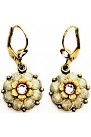 Michal Negrin Misty Crystals Flower Earrings
