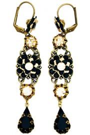 Michal Negrin Black Peach Milano Earrings
