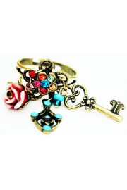 Michal Negrin Multicolor Victorian Charms Ring