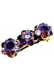 Michal Negrin Purple Swirl Crystals Hair Clip