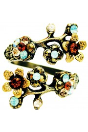 Michal Negrin Earth Tones Cherry Blossom Wrap Ring