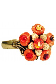 Michal Negrin Tangerine Flower Ring