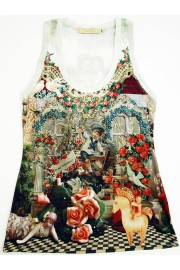 Michal Negrin Victorian Collage Tank Top