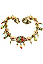 Michal Negrin Multicolor Roses Beads Necklace