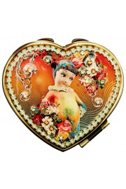 Michal Negrin Rainbow Heart Compact Mirror
