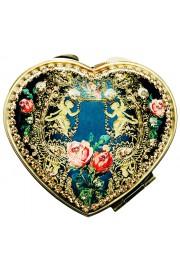 Michal Negrin Antique Cherubs Heart Compact Mirror