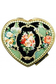 Michal Negrin Roses Heart Compact Mirror