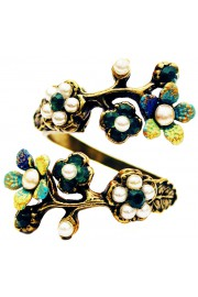 Michal Negrin Pearl Green Cherry Blossom Wrap Ring