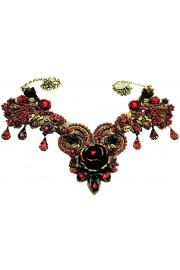 Michal Negrin Red Rose Garden Necklace
