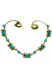 Michal Negrin Turquoise Flowers Necklace