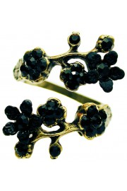 Michal Negrin Black Cherry Blossom Wrap Ring