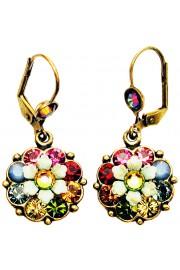 Michal Negrin Multicolor Crystal Flower Earrings