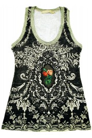 Michal Negrin Victorian Roses Tank Top