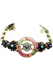 Michal Negrin Purple Roses Circle Bracelet