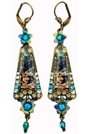 Michal Negrin Swimmers Kiss Triangle Earrings