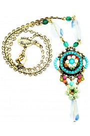 Michal Negrin Multicolor Crystal Beads Pendant Necklace
